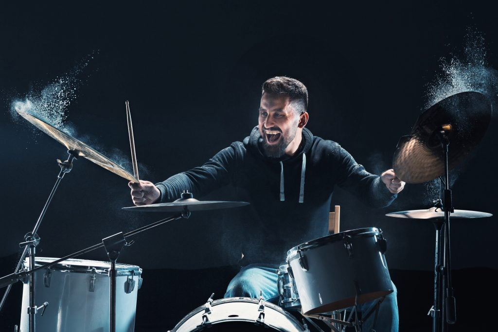 Smiling Male Drummer