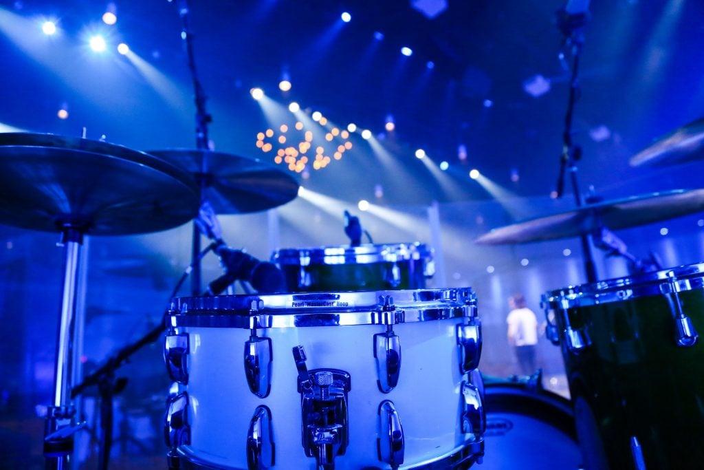 live drum set