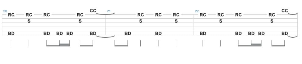 the trooper drum tab