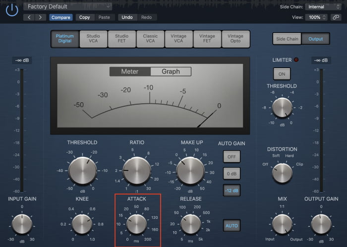 kick drum compression attack
