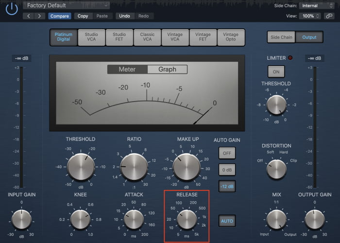 kick drum compression release