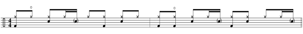 hip hop drum beat ornamentation